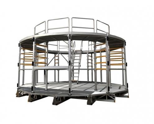 custom aluminum work platform