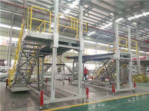aluminum adjustable height platform