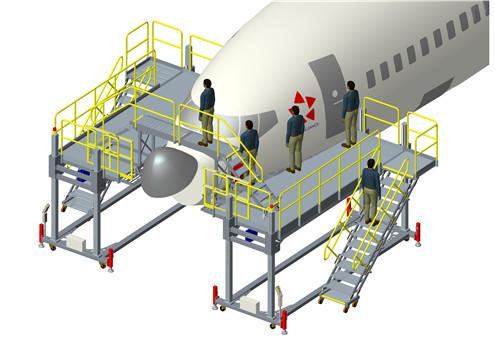 aircraft maintenance nose dock