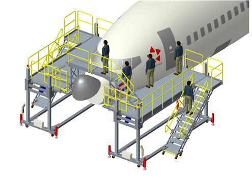 aircraft maintenance nose dock