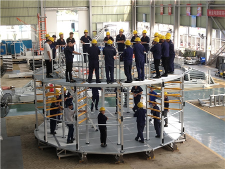 custom platform for hydropower station