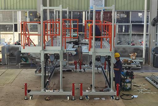 height adjustable engine assembly platform