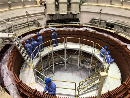 round platform for hydropower station