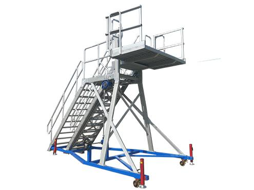 aircraft front door access platform