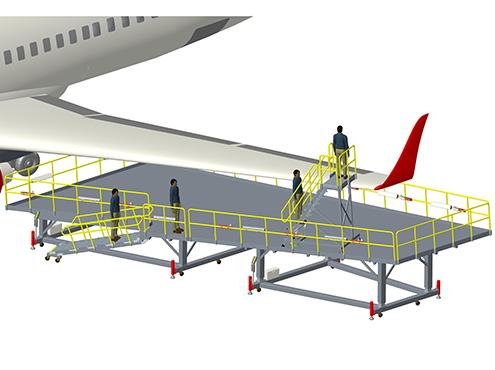 A320 B737 universal wing dock