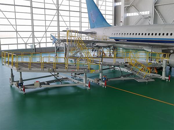 aircraft wing maintenance dock