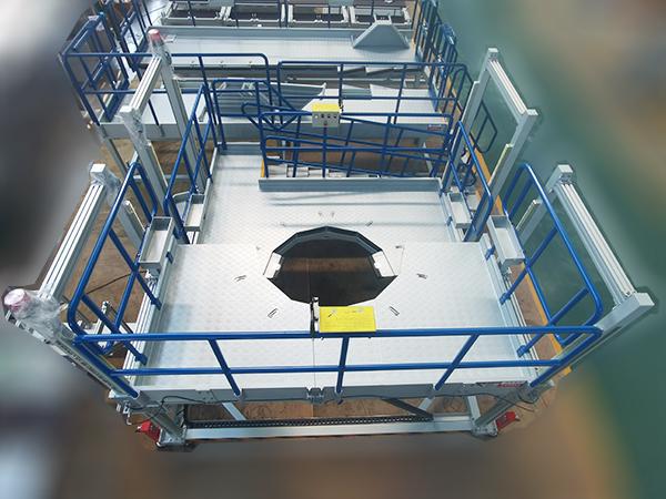 engine assembly work platform