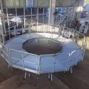 round work platform for water mill room