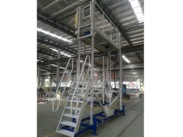 train roof access platform with adjustable height