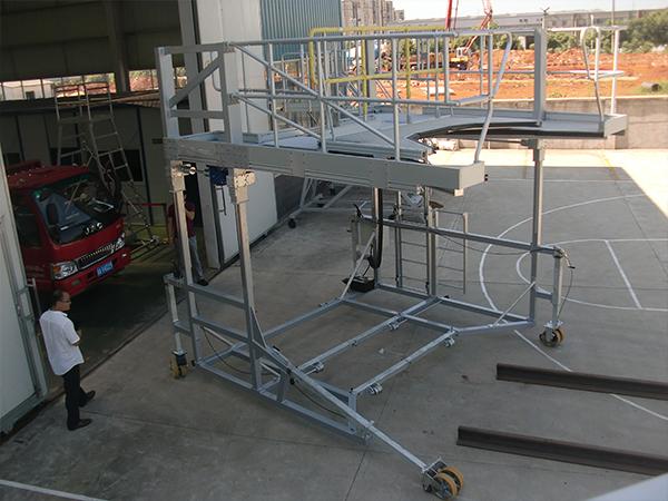 train front maintenance platform