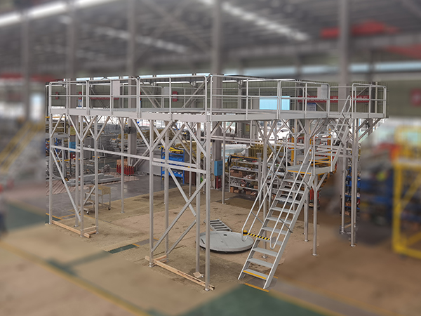 aluminum work platform for offshore wind tower